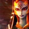 starsinyourwake: midna, in her true form, smiles as she says good-bye to link and zelda (the twilight princess's sacrifice)
