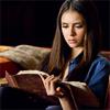 alchemise: Vampire Diaries: Katherine reading (VD: reading)