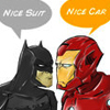 wenelda: (Batman/Iron Man rivalry)