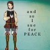 "laceblade: fanart of Larsa from Final Fantasy XII, hand on chest. text: ""and so I sue for PEACE"" (FFXII: Larsa)"