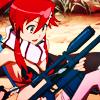 erin_c_1978: A screenshot of Yoko from Gurren Lagann polishing her gun; icon by ce_lestic (yoko)