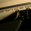 janissa11: (typewriter)