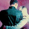 wethepainted: 9th Doctor and Rose with her arm around him facing away (hug, Doctor&Rose)