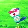 wundagore: Mijumaru with hearts in his eyes. (pokemon ☆ baby baby love)