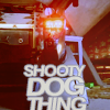 talumin: K9 from Doctor Who, with the text 'Shooty Dog Thing' (doctor who, k9, shooty dog thing, tin dog)
