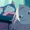 jaxadorawho: (Anime ☆ FLCL ~ Haruko upside talking)