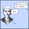 "xtina: ""are you a boy or a girl."" ""no"" (nonbinary, gender)"