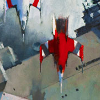 flower_of_justice: A painting of two ships, taken from the cover of Ancillary Justice. (ancillary justice)