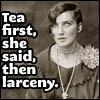brosedshield: (tea then larceny)