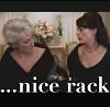 "la_fono: Miranda eyeing up Andrea's cleavage, with the caption ""...nice rack"" (nice rack)"