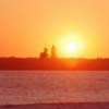 skieswideopen: The sun rises beside the distant space shuttle (Farscape: Sunrise)