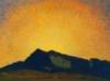 cledon: Bright yellow sunrise over dark mountain. (Default)