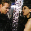 skieswideopen: Nick and Janette on the opposite side of hanging chains, facing each other (FK: Nick & Janette)
