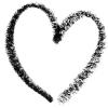 misbegotten: A crayon heart (Moods Heart Crayon Black)