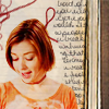 ninamazing: Short-haired witchy Willow from Buffy the Vampire Slayer, with an old-style notebook background. (willow the witch)