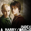 but_malfoy: A montage of Harry Potter and Draco Malfoy - in year 1 quidditch gear (H/D Index)