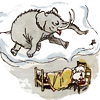 pensnest: Piglet sleeps and the Heffalump rampages (Heffalump dreams)
