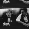 wordsatourbacks: mike and meldrick sitting together in formal wear, meldrick leaning his right elbow on mike's arm and looking at mike (wedding bells)