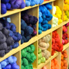 frith_in_thorns: A rainbow of yarn on shelves (.Yarn)