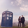 muccamukk: Clara and Twelve stand next to the TARDIS on an alien planet. (DW: Pretty)