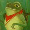 zdashamber: painting - a frog wearing a bandanna (Default)