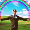 tehkittykat: tony stark photoshopped to hold a rainbow (marvel; tony stark imagination!)