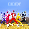 eggplantlady: The five original Power Rangers strike a pose (MMPR Group)
