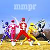 eggplantlady: The five original Power Rangers strike a pose (MMPR Group)