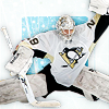 snickfic: photo, Marc-Andre Fleury makes a save (pens, flower)