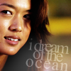 muccamukk: Kono smiling. Text: I dream of the ocean (H5-0: Dream of the Ocean)