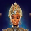 onyxlynx: Janelle Monae appearing androidish in headdress and neckpiece (Archandroid)