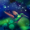 pensnest: hummingbird against blue background (Hummingbird)