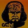 pensnest: Drawing of Worf looking cross (Klingon Gah!)