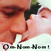 thothmes: Baby Wylie chomping on R.D.A.'s nose, Legend: Om-Nomm-Nomm (Om-Nomm-Nomm)