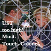 thothmes: Jack O'Neill behind frosted galactic chart.  Carter approaches with grabby hands. U.S.T. too high!  Must touch Colonel! (UST too high.  Must touch Colonel!)