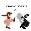 tehkittykat: aerith kicking sephiroth like chuck norris (ffvii; aerith chuck norris)