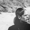 frayadjacent: Buffy looking to the side in black and white (BtVS: Buffy B&W)