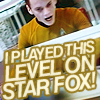 """luciazephyr: Ensign Chekov at his station, """"I played this level on Star Fox!"""" ([ST] DO A BARREL-- no sorry)"""