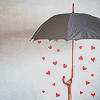 whymzycal: Hearts raining from under an umbrella (raining hearts)