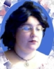 "azurelunatic: cameo-like portrait of <user name=""azurelunatic""> in short blue hair.  (cameo)"