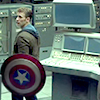 balsamandash: Steve Rogers (Captain America 2), in civilian clothes + holding shield, looking around (mcu] who'll stand up and make a stand)