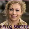 "zlabya: a picture of River Song from Doctor Who, smiling, with text: ""Hello, Sweetie"" (Hello Sweetie)"