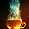 whymzycal: Demon-shaped steam rising from tea (tea demon)