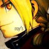 "zippitgood: close up of left side of ed's face with ""roy's"" across his jaw (fma - ed - roy's)"