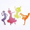 kunenk: Coloured silhouettes of the Homestuck kids dancing (Default)