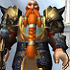 gramina: Heavily armed and armored redheaded male dwarf (Bedin)