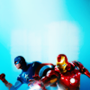fooljoshi: avengers :: cap and ironman in battle stances ([marvel] we are the heroes)