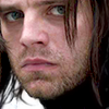 pensnest: Close up of Bucky Barnes/Winter Soldier looking very much put upon (Mope on, emo Soldier)