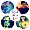 "yhlee: Avatar: The Last Airbender: ""fight like a girl"" (A:tLA fight like a girl)"