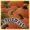 "syntaxofthings: A field of pumpkins with the text ""Halloween"" ([flower] happy Halloween)"